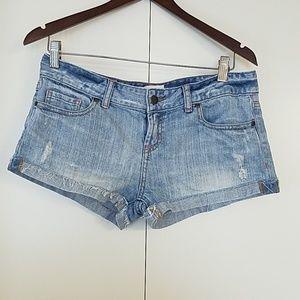 PINK Victoria's Secret Low Waist Distressed Shorts